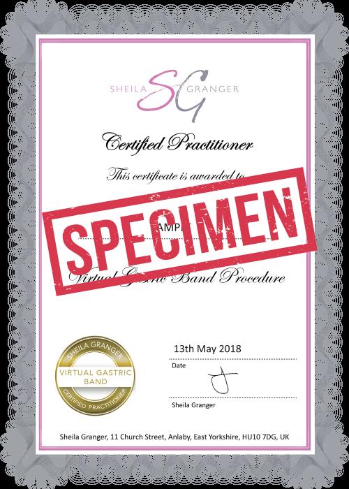 Specimen certificate AGV Small
